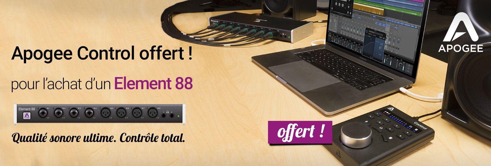 Apogee Control gratuit pour achat Element 88
