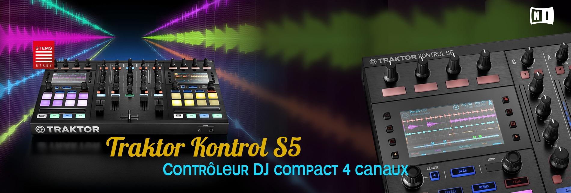 Native Instruments, Traktor Kontrol S5, contrôleur DJ 4 canaux