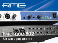 RME Fireface 802, interface audio USB et Firewire, 60 canaux